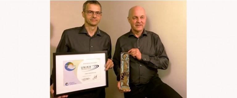 "Unika wins the ""Silkeborg Business Award of 2016"" by Silkeborg Erhverv"